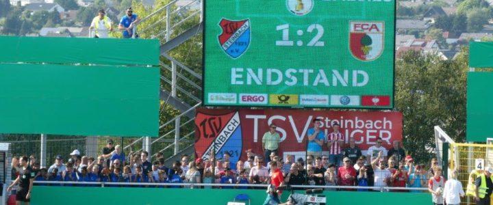 DFB-Pokalspiel zwischen dem TSV Steinbach-Haiger und dem FC Augsburg